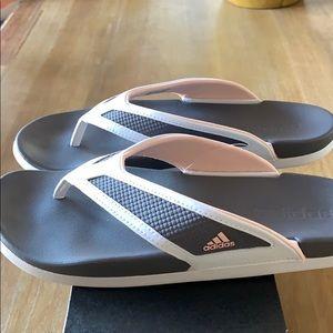 Brand new women's Adidas flip flops